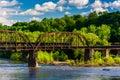 A Railroad Bridge Over The Del...