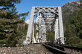 Railroad bridge at Tobin Twin Bridges Royalty Free Stock Photo