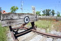 Railroad buffer stop a wooden Royalty Free Stock Image