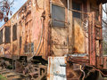 Railroad caboose details of an old rusted Royalty Free Stock Image