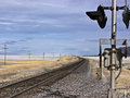 Railroad crossing near the Black Rock Desert Royalty Free Stock Image