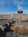 Railroad crossing in the nevada desert a town Stock Images