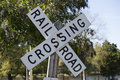 Railroad Crossing Sign Royalty Free Stock Photo