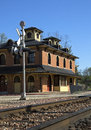 Railroad depot historic in galena illinois Stock Photo