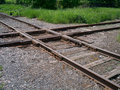 Railroad frog crossing a four way Stock Photography