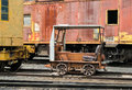 Railroad inspection  motor car Royalty Free Stock Photo