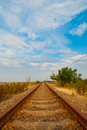 Railroad Line Stock Photo