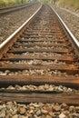 Railroad perspective Stock Photo