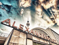 Railroad station alexanderplatz in berlin germany Royalty Free Stock Photography