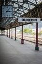 Railroad station in Dunedin, New Zealand Royalty Free Stock Photo