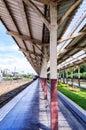 Railroad station platform Royalty Free Stock Photo