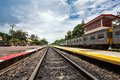 Railroad in the station thailand Royalty Free Stock Photos