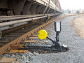 Railroad switch Stock Photo
