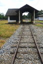 Railroad to a house