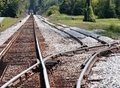 Railroad track in horse cave kentucky Royalty Free Stock Photos