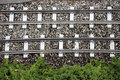 Railroad track with ties Stock Photos