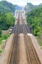 Railroad Tracks Royalty Free Stock Photography