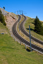 Railroad tracks in the alps Stock Images