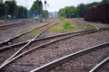 Railroad Tracks (curves) Stock Photography