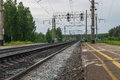 Railroad tracks russia in the russian federation Stock Photography