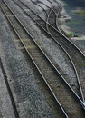 Railroad Tracks and Switch Royalty Free Stock Photo