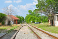 Railroad tracks in Tyler, Texas Royalty Free Stock Images