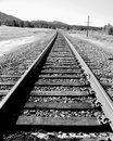 Railroad Train Tracks Vintage Old Time Photo Western Ties Royalty Free Stock Photo
