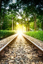 Railroad transit the park a stack public Royalty Free Stock Image