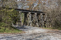 Railroad trestle in the ozone falls state area old at tennessee Stock Image