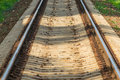 Railroad view of tracks going in the future Royalty Free Stock Images