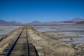Rails in desert Royalty Free Stock Photo