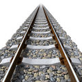 Rails lines on concrete sleepers Royalty Free Stock Photos
