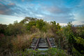 Rails of nothingness going from here to nothing Royalty Free Stock Photo