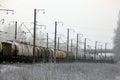 Rails railroad barrels trains tracks train Stock Photo