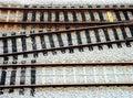 RailTrack Junction Stock Photo