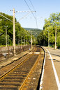 Railtrack old abandoned platform at the station in the vistula Royalty Free Stock Photos