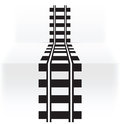 Railway abstract illustration of black Royalty Free Stock Images