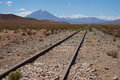 Railway Across the Altiplano Royalty Free Stock Photo