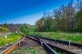 Railway arrows Royalty Free Stock Photo