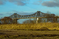 Railway bridge in rendsburg germany Stock Images