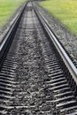 Railway  concrete  sleepers Stock Photo