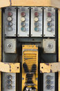 Railway control panel old fashion communication at a german train station Stock Images