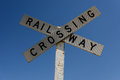 Railway Crossing sign Royalty Free Stock Photo