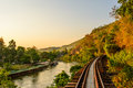 Railway death river thailand asia attempt destination environment forest growth hevea journey kanchanaburi kwai landscape mountain Stock Images