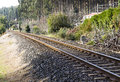 Railway in diagonal composition Stock Photography