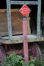 Railway express agency baggage cart in lexington ma Stock Image