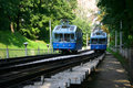 Railway funicular in Kiev Stock Image