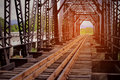 Railway for high speed train between city. railway with tunnel structure for cross the river. Civil engineer plan to maintenance Royalty Free Stock Photo