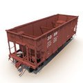 Railway hopper car on white d illustration background Stock Images