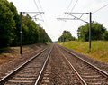 Railway Line Stock Photo
